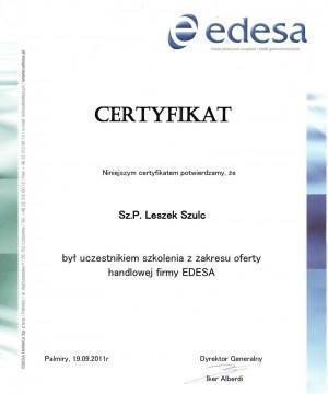 certyfikat-edesa-Leszek