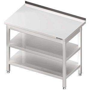 stół przyścienny z dwiema półkami