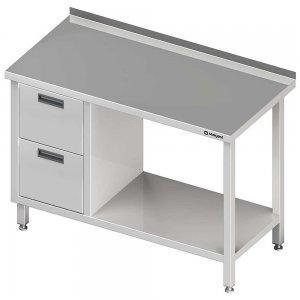 stół z szufladami i półką