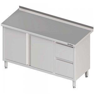 stół z szufladami i szafką